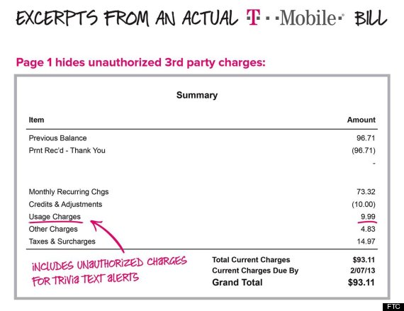 How T-Mobile Allegedly Hid Bogus Fees In Phone Bills HuffPost - tmobile costumer service