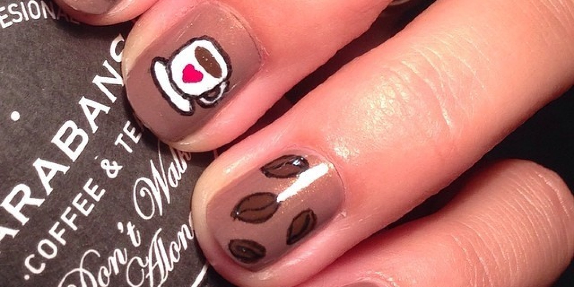 Coffee Art Nails Coffee Nail Art That Will Perk Up Your Monday Morning