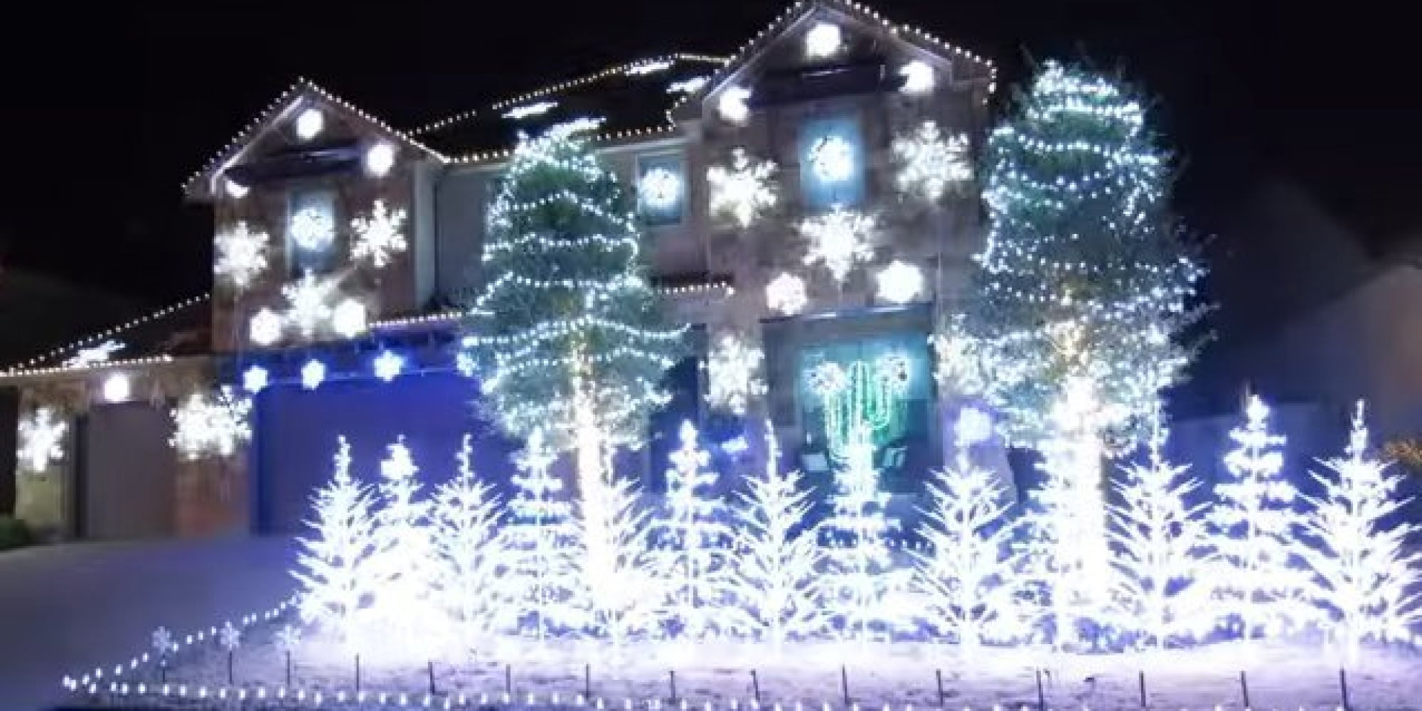 Projecteur Led Exterieur 'let It Go' Christmas Light Display Is So Cool, It Will