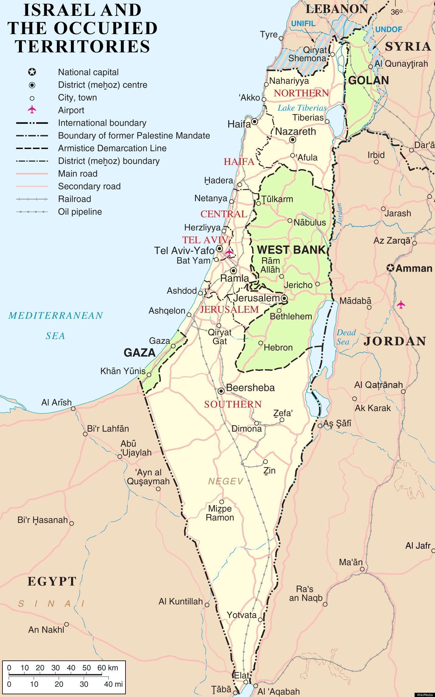 Current Map Israel And Palestine