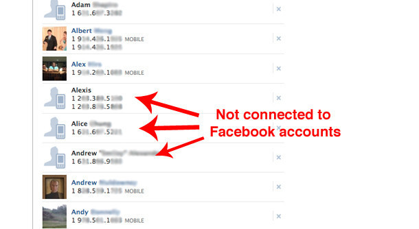 Facebook \u0027Phonebook Contacts\u0027 Stores Your Friends\u0027 Phone Numbers But