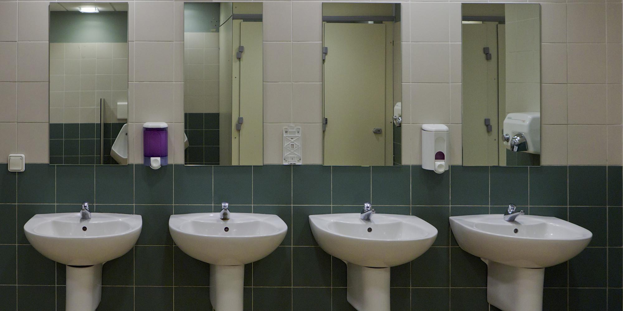 Public Bathroom Mirror