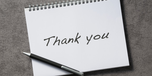 Thank You Notes HuffPost - business thank you note