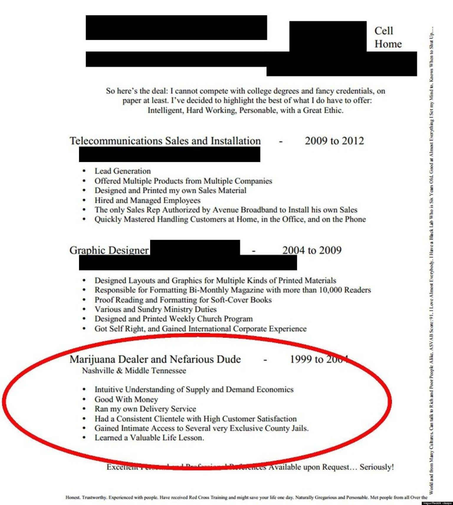 reddit good resume example