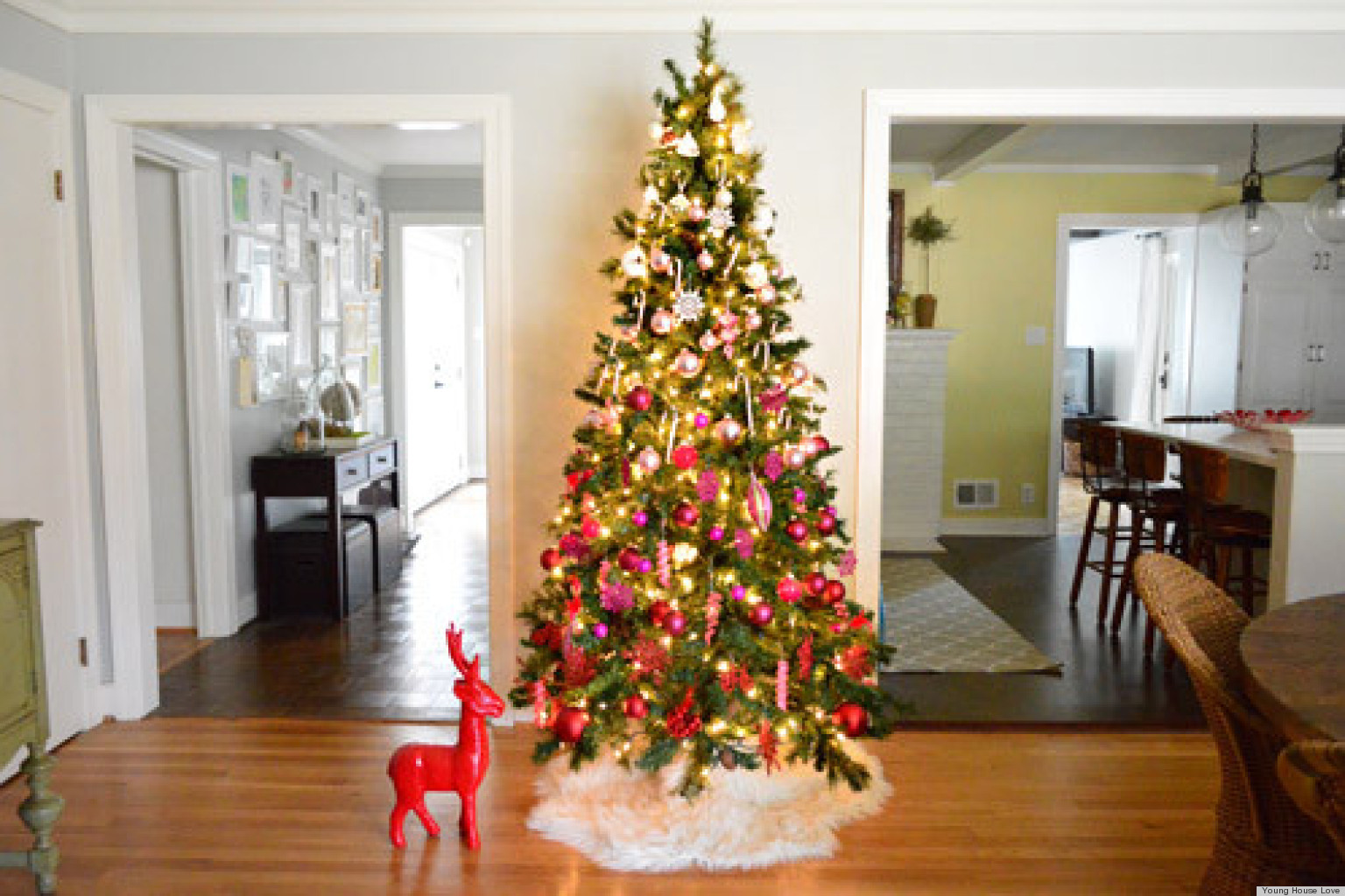 Weihnachten Dekoration Real Christmas Tree Decorating Ideas An Ombre Design From