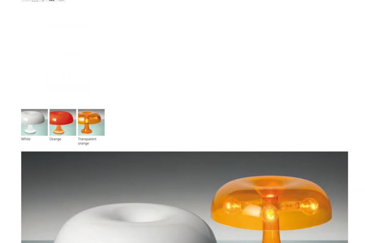 Nessino Artemide Artemide Nessino Lampe De Table Orange 0039070a Lámparas