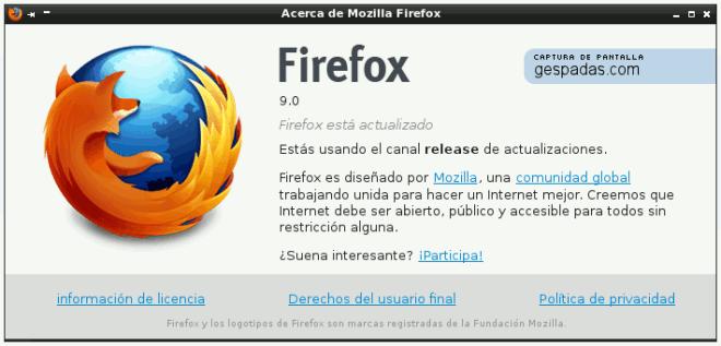 Firefox 9: Acerca de