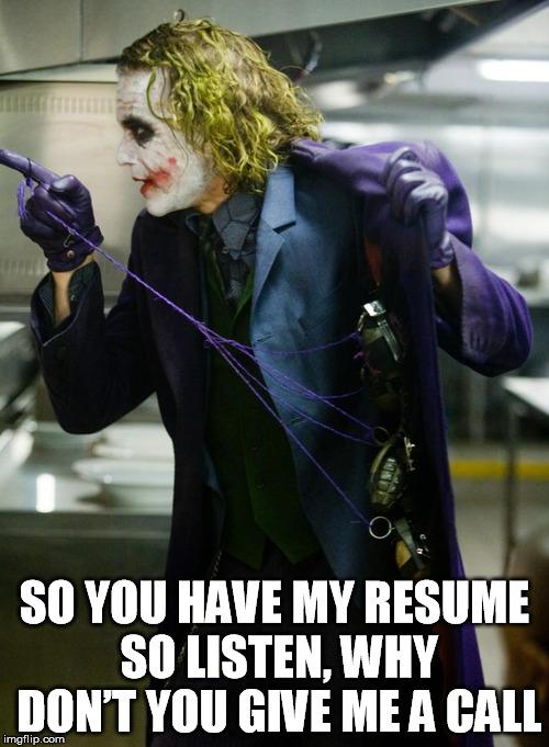 job resume memes