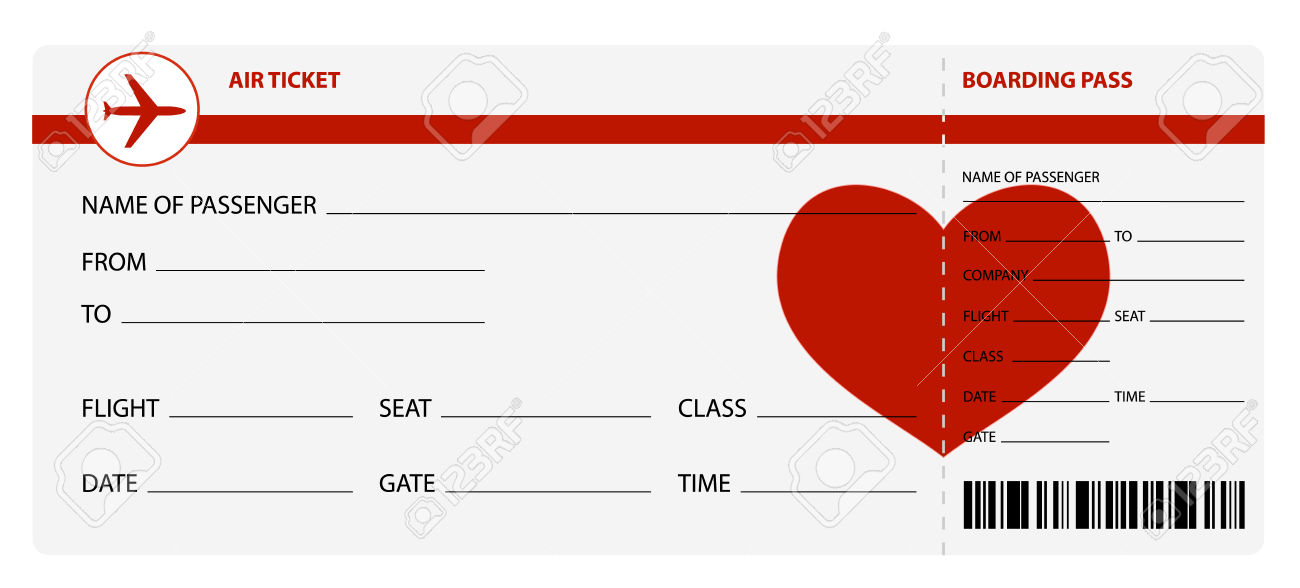 Blank Plane Ticket Blank Template - Imgflip - airplane ticket template