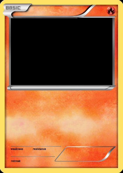 Blank Pokemon Card Blank Template - Imgflip