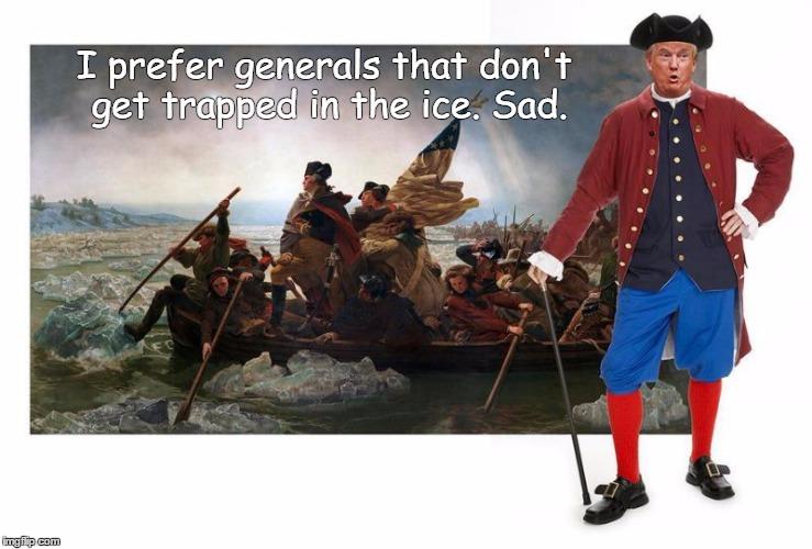 Trump Crossing the Delaware River - Imgflip
