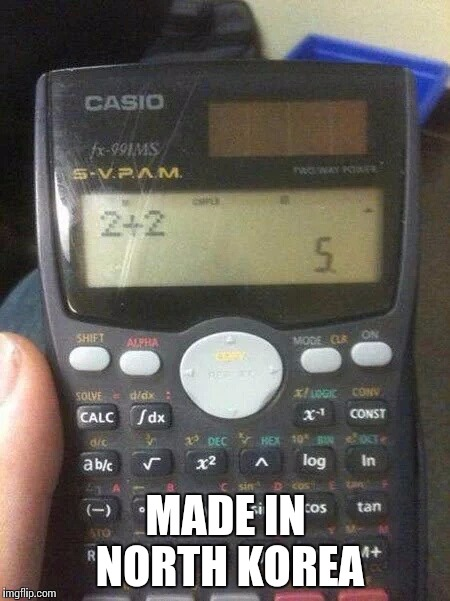 North Korean calculator - Imgflip