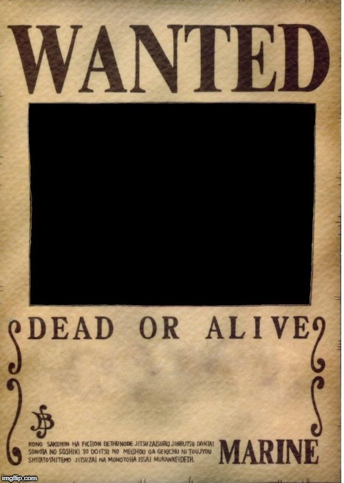 One piece wanted poster template - Imgflip