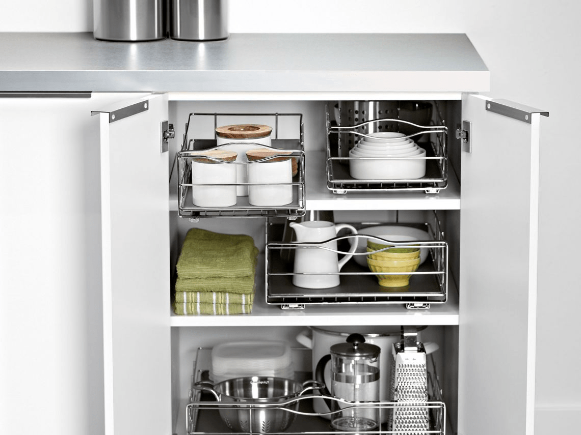 Review Simplehuman Pull Out Cabinet Organizers Eliminate Kitchen Clutter Business Insider