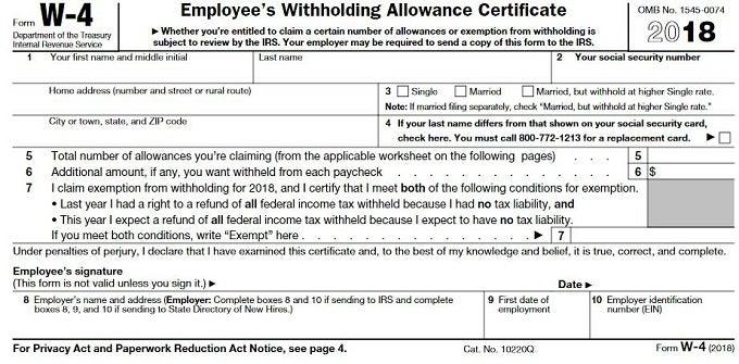 w2 allowances
