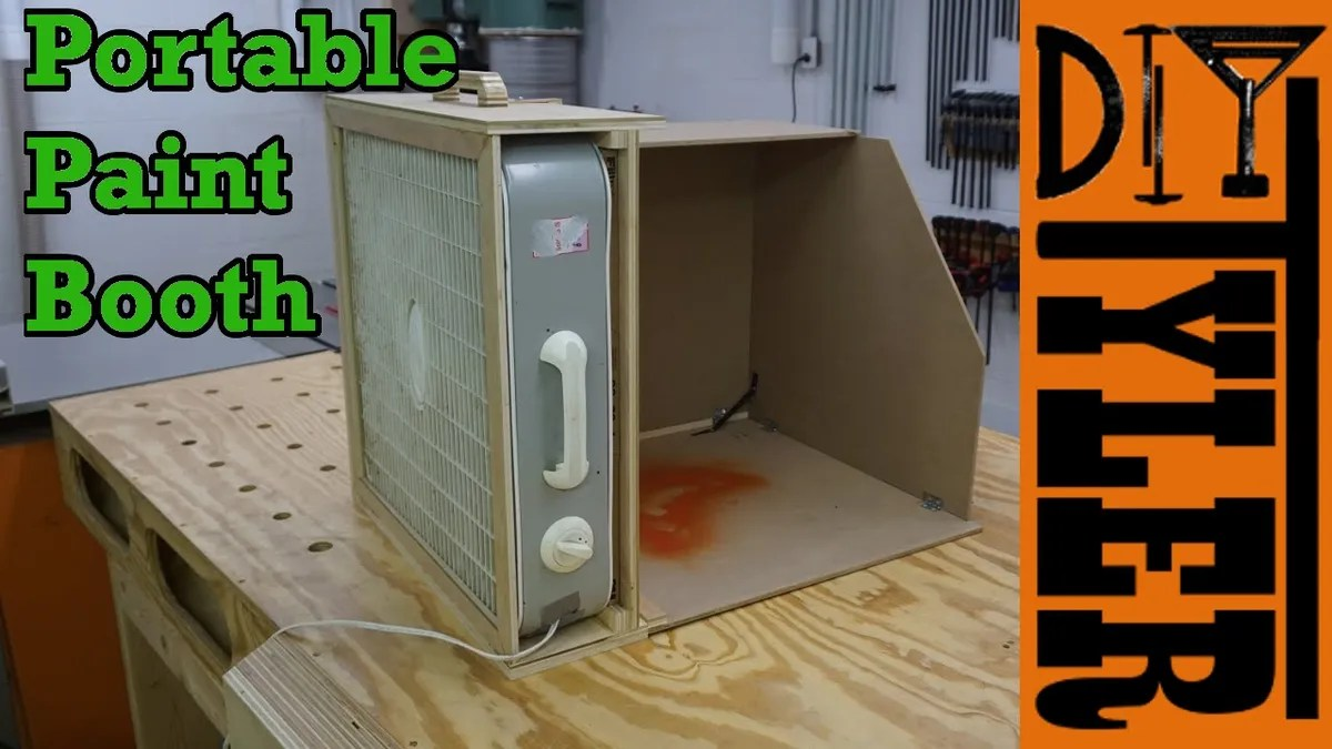 Build A Portable Spray Paint Booth For Your Workshop