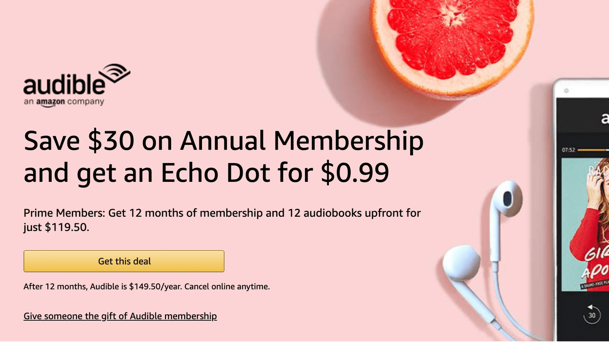 Amazon Audible Login This Annual Audible Membership Deal Is Even Available For