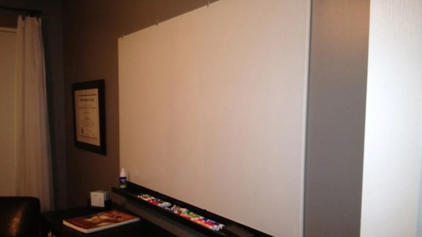 Turn A Wall Into A Whiteboard This Diy Glass Whiteboard Turns A Whole Wall Into A Space For