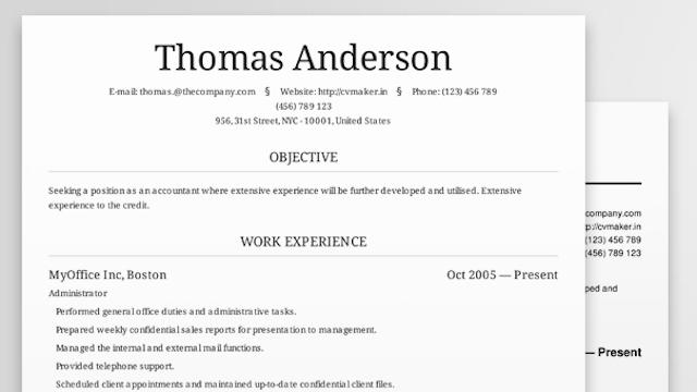 Free Resume Build. Data Entry Resumes