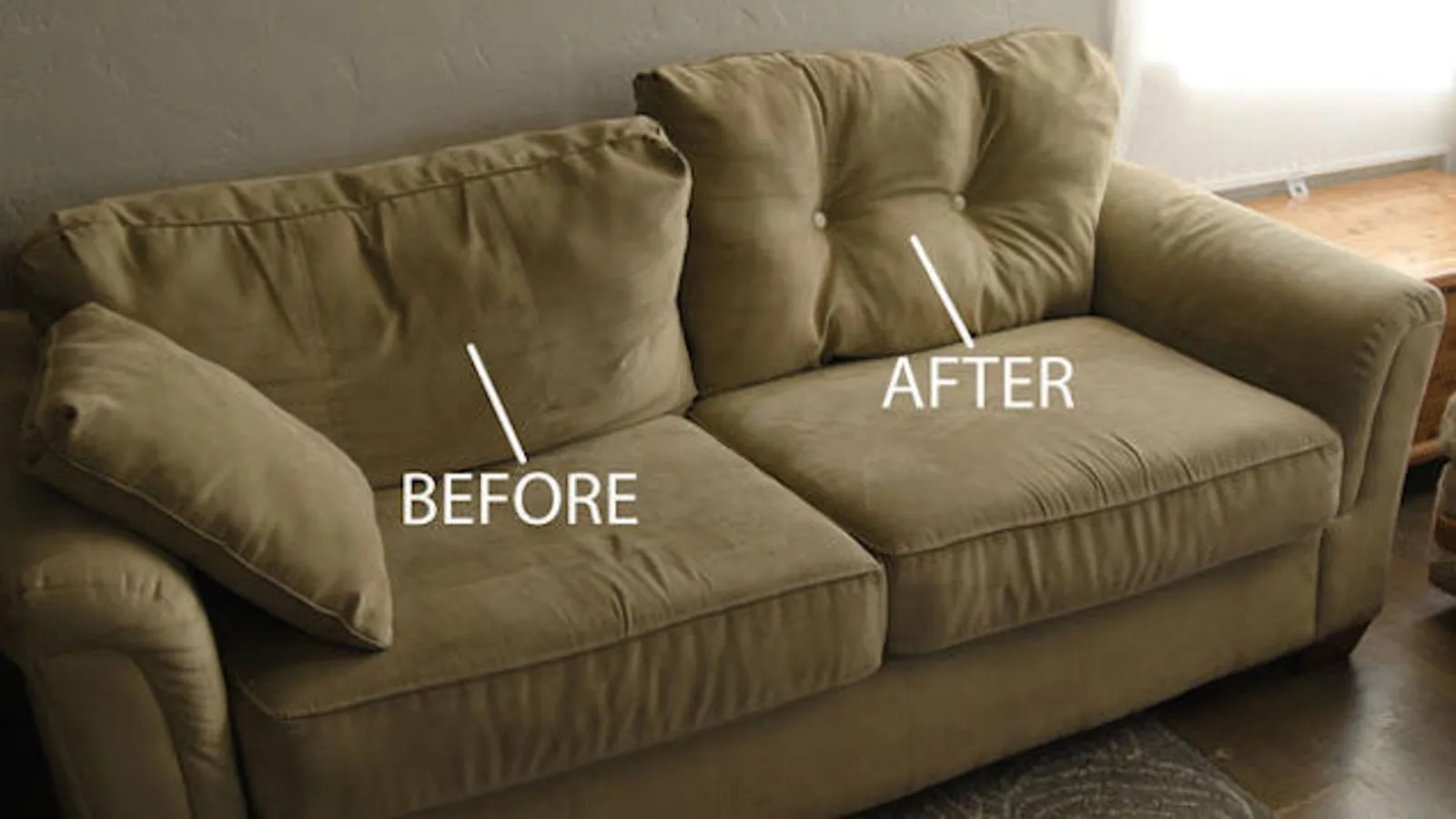 Sofa Cushions That Don't Go Flat Plump Up Saggy Couch Cushions With Just A Few Buttons