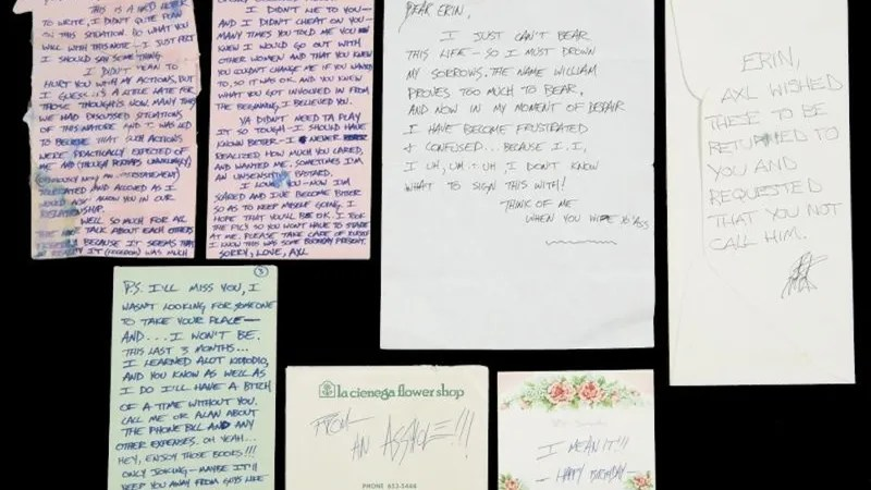 Crap Notes From a Dude Axl Rose\u0027s Manic, Douchey Breakup Letters