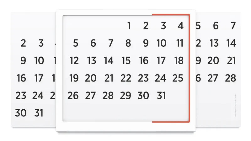 This Simple Chart Is a Brilliantly Minimal Perpetual Calendar