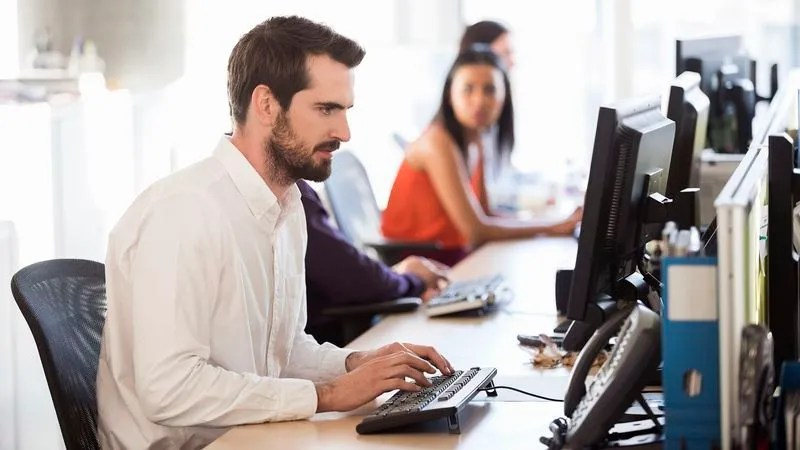 Coworker Loudly Typing Away Like 1930s Cub Reporter Chasing Hot Lead