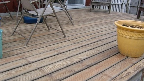 Medium Of Sanding A Deck