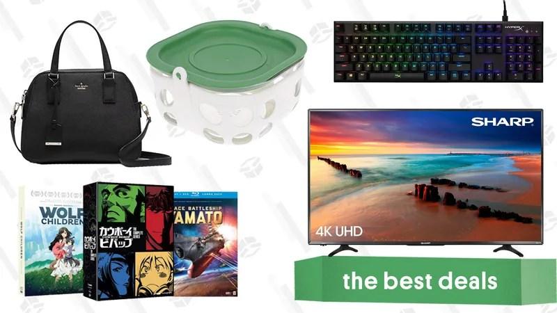 Monday\u0027s Best Deals Sharp Roku TV, Anime Blu-rays, Kate Spade, and More