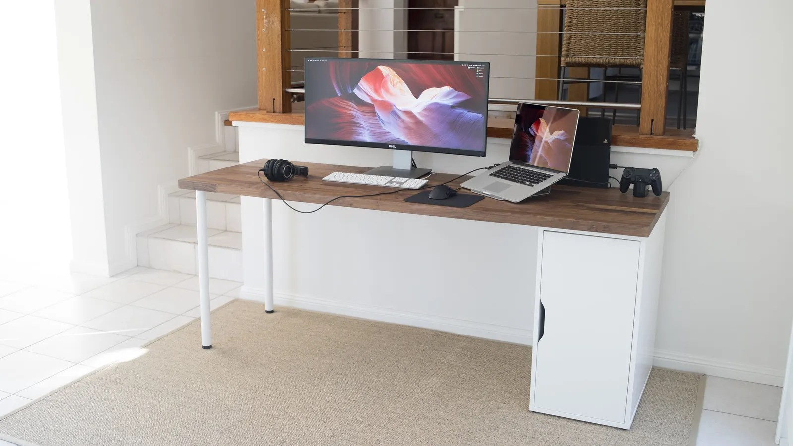 Ikea Karlby Desk The Minimalist's Work And Play Space