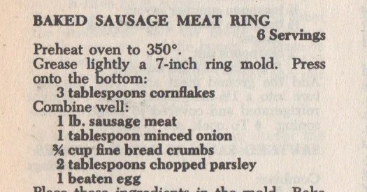 """Baked Sausage Meat Ring"" Is Much Better Than It Sounds (Or Looks)"