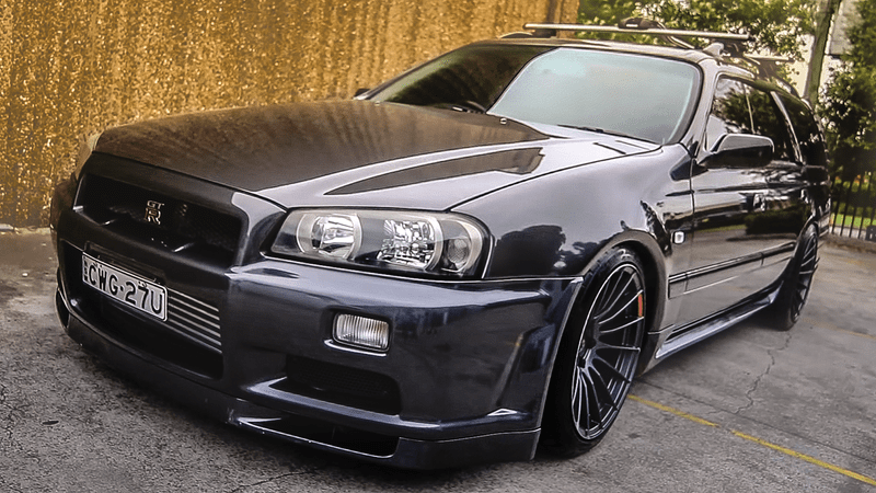 Mighty Car Mods Wallpaper This Insane Station Wagon Is What Every Nissan Skyline Gt