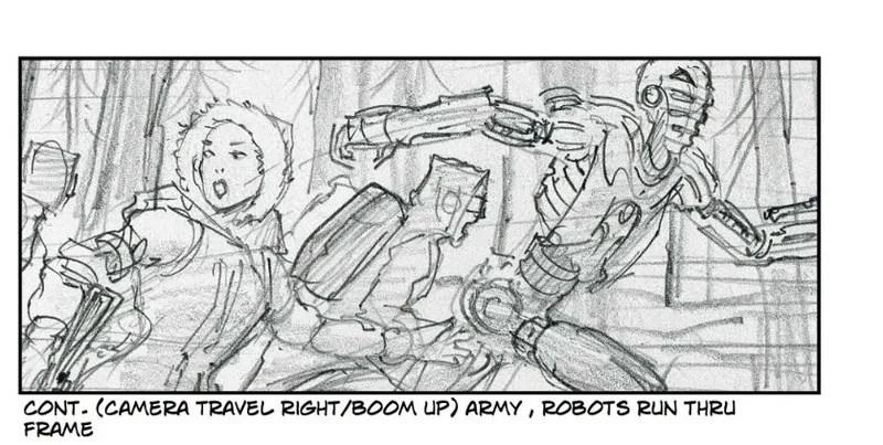 Thrilling Storyboards for Spielberg\u0027s Delayed Robopocalypse Movie - film storyboards