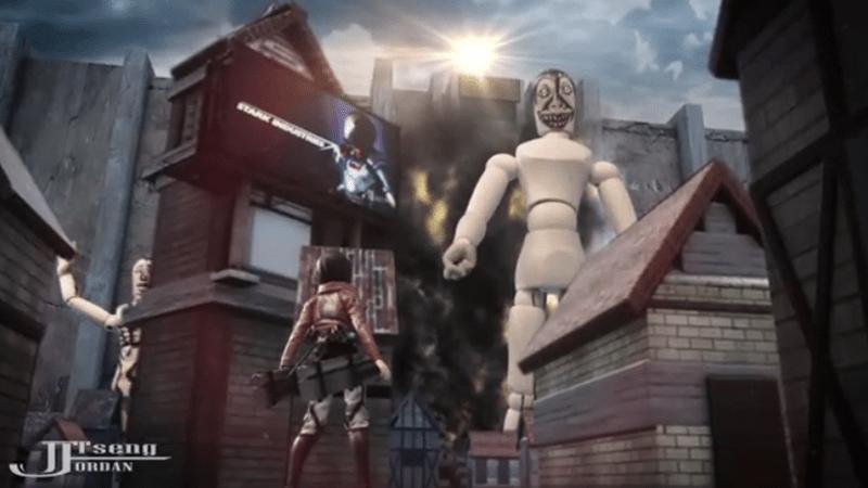Godzilla Wallpaper Hd 1920x1080 Wooden Mannequins Destroy Everything In Attack On Titan