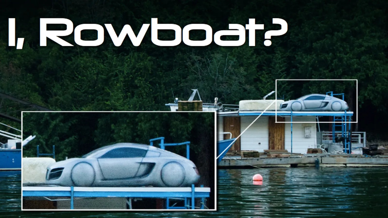 I Robot How Did An I Robot Prop Car End Up On A Canadian Salvage Barge