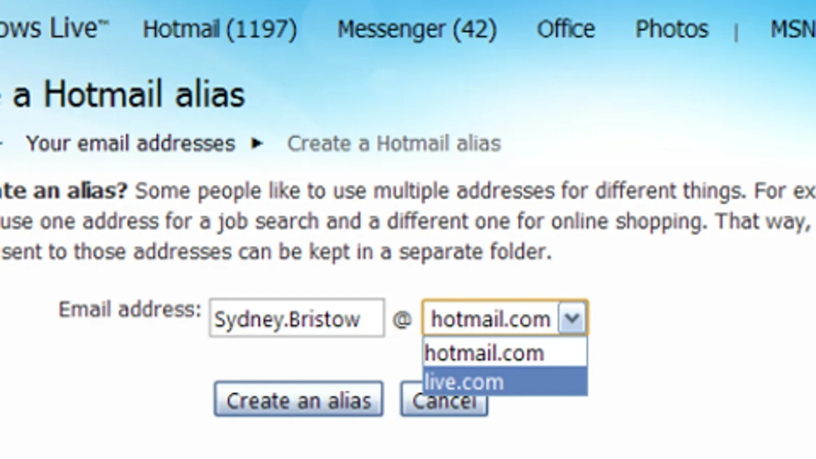 Messenger Hotmail Create Up To Five Throw Away Hotmail Addresses For Spam Lukewarm