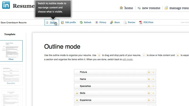 LinkedIn\u0027s Resume Builder Makes a Resume From Your Profile - linked in resume builder