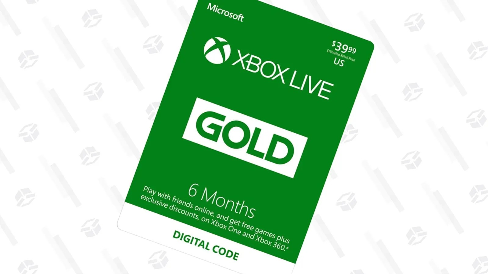 Xbox Live Gold 1 Mes Add Six Months To Your Xbox Live Gold Membership For 20