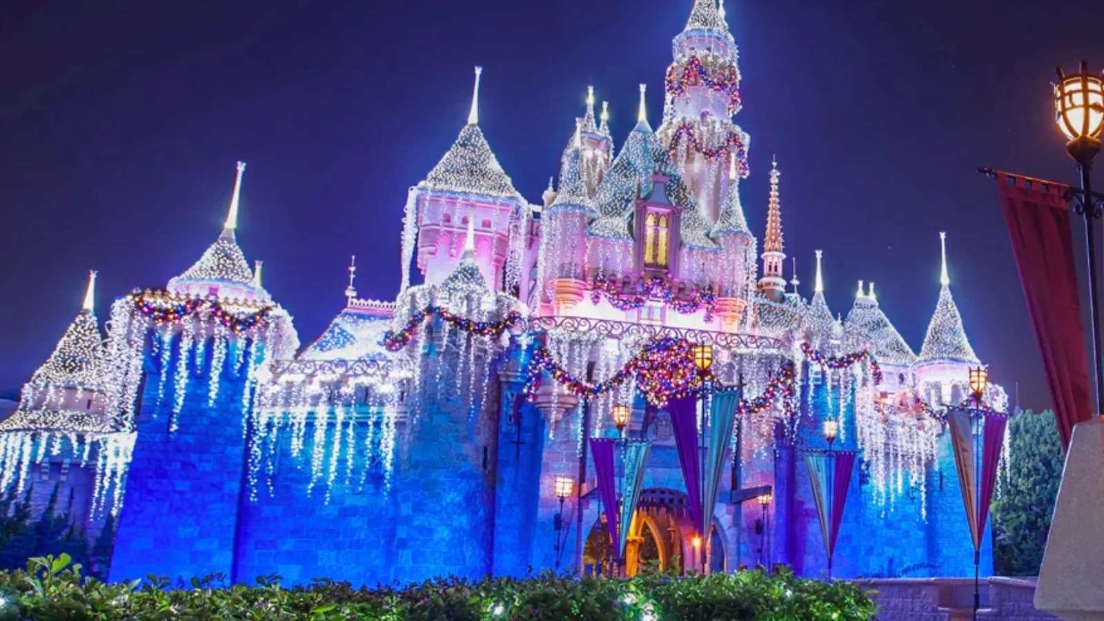 Animated Christmas Tree Wallpaper This Time Lapse Video Of Disneyland Transforming For The