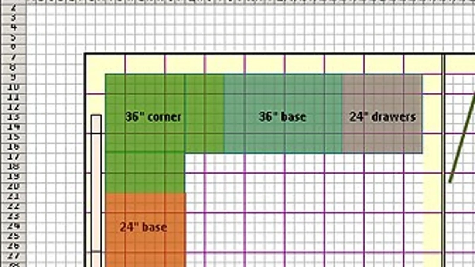 Kitchen Design Layout Graph Paper Design Floor Plans With Excel