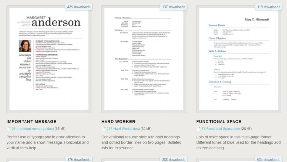 Download 275 Free Resume Templates For Microsoft Word Lifehacker - Free Resume Templates Download For Microsoft Word