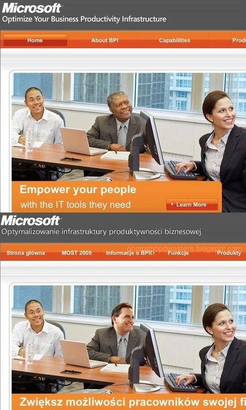 Microsoft Ad Photoshop Controversy Know Your Meme