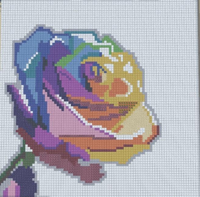 Over the Rainbow (Elise Enchanted Deviantart) Minecraft Pixel Art - minecraft pixel art template
