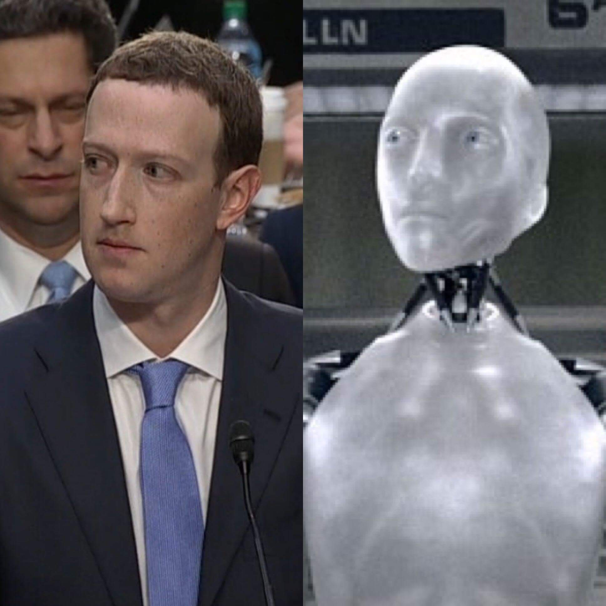 I Robot I Robot Mark Zuckerberg Congressional Hearings Know Your Meme