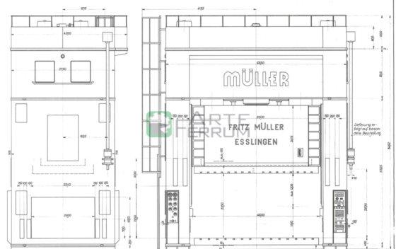 Müller Weingarten 2000 ton Hydraulic press 4500 x 2200 in Europe