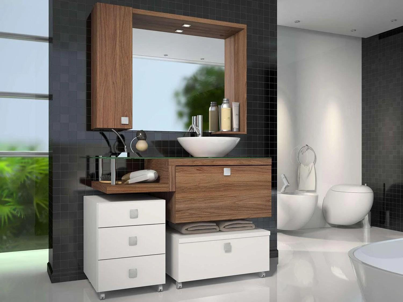 Balcao Pra Banheiro Com Espelho Movel Para Banheiro Com Armarinho E  #4A6133 1500 1126