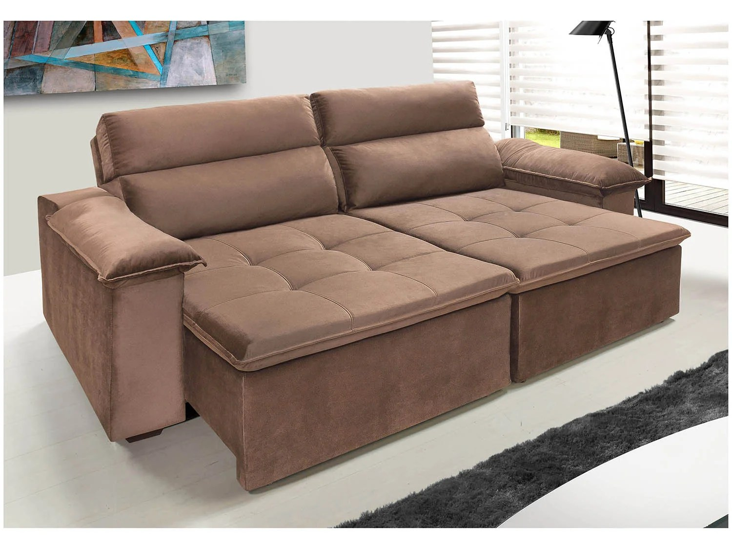 Sofa Retratil E Reclinavel Impermeavel Jogo De Sofa Retratil Magazine Luiza Resnooze