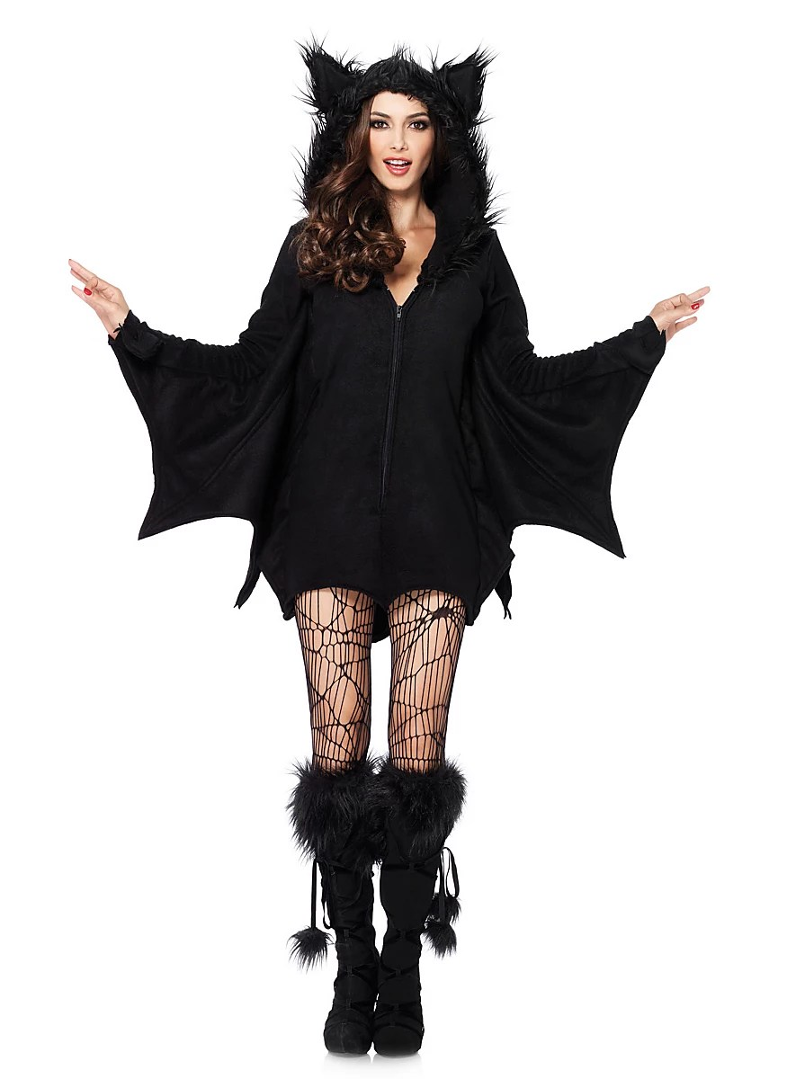 Ausgefallene Halloween Kostüme Freche Fledermaus Hoodie Dress Maskworld