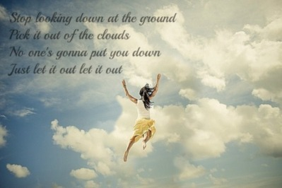 Wallpaper Desktop Girl Falling Stop Looking Down At The Ground Pick It Out Of The Clouds
