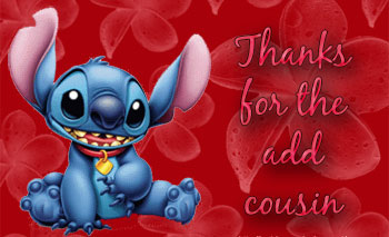 Latest Birthday Wallpaper With Quotes Lilo Amp Stitch Thanks Thanks For The Add